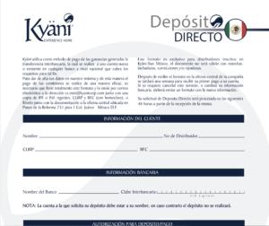 Formato Deposito Directo MX