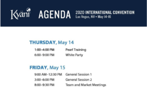 Agenda Conv Las Vegas 2020